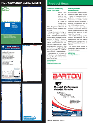 The Fabricator - June 2013 - Page 106-107