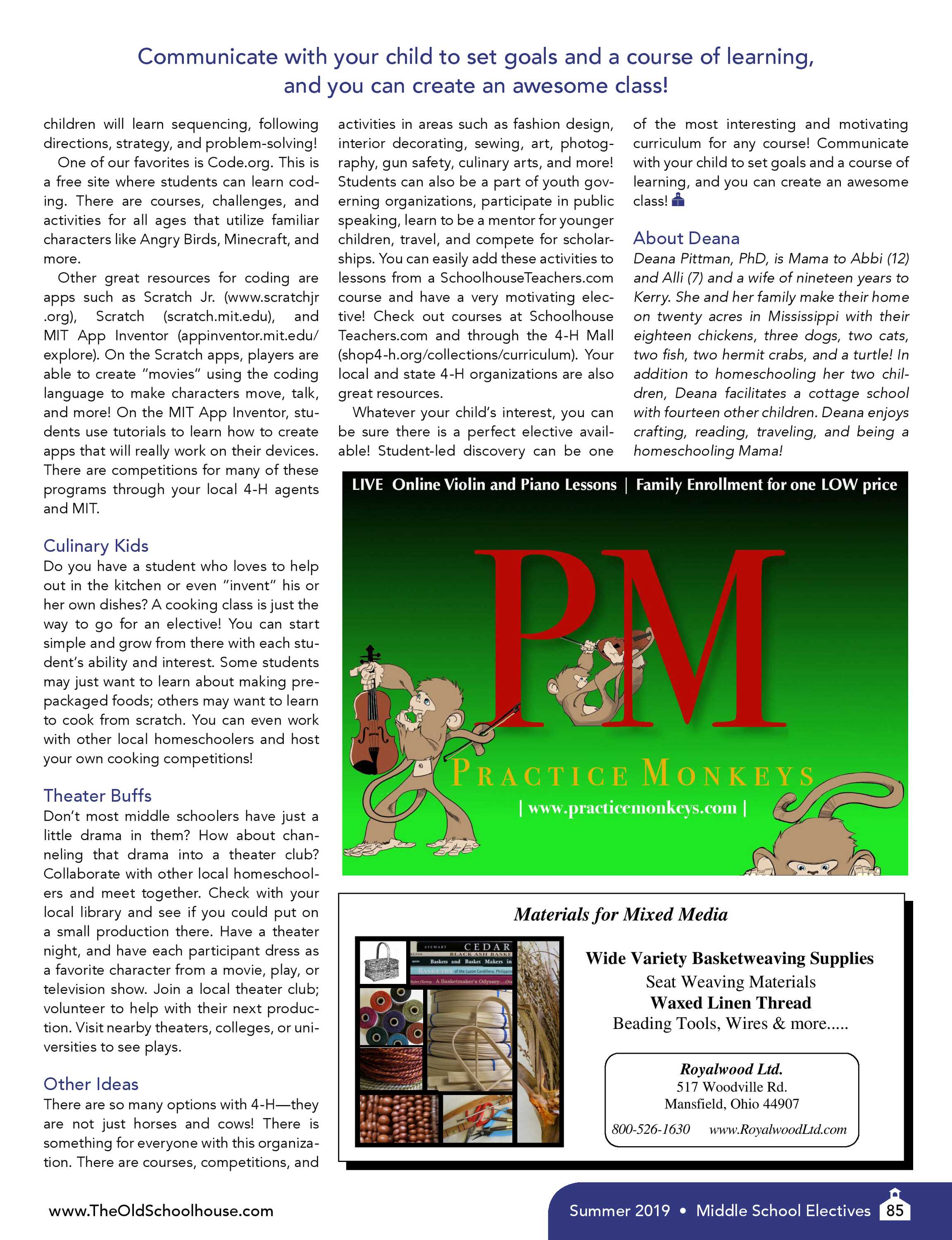 The Old Schoolhouse Magazine - Summer 2019 - page 84