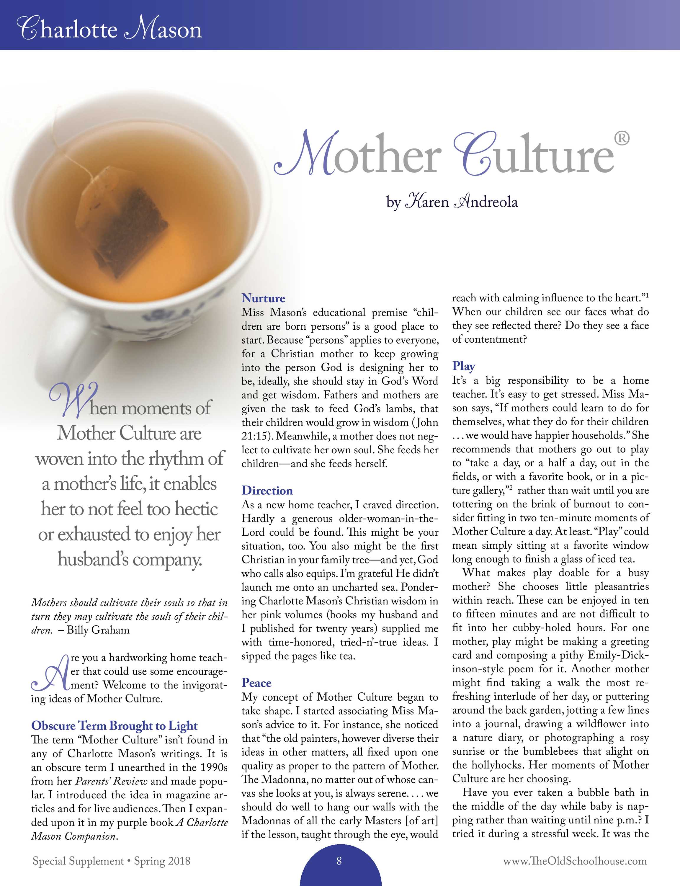 The Old Schoolhouse Magazine - Spring Supplement 2018 - page 8