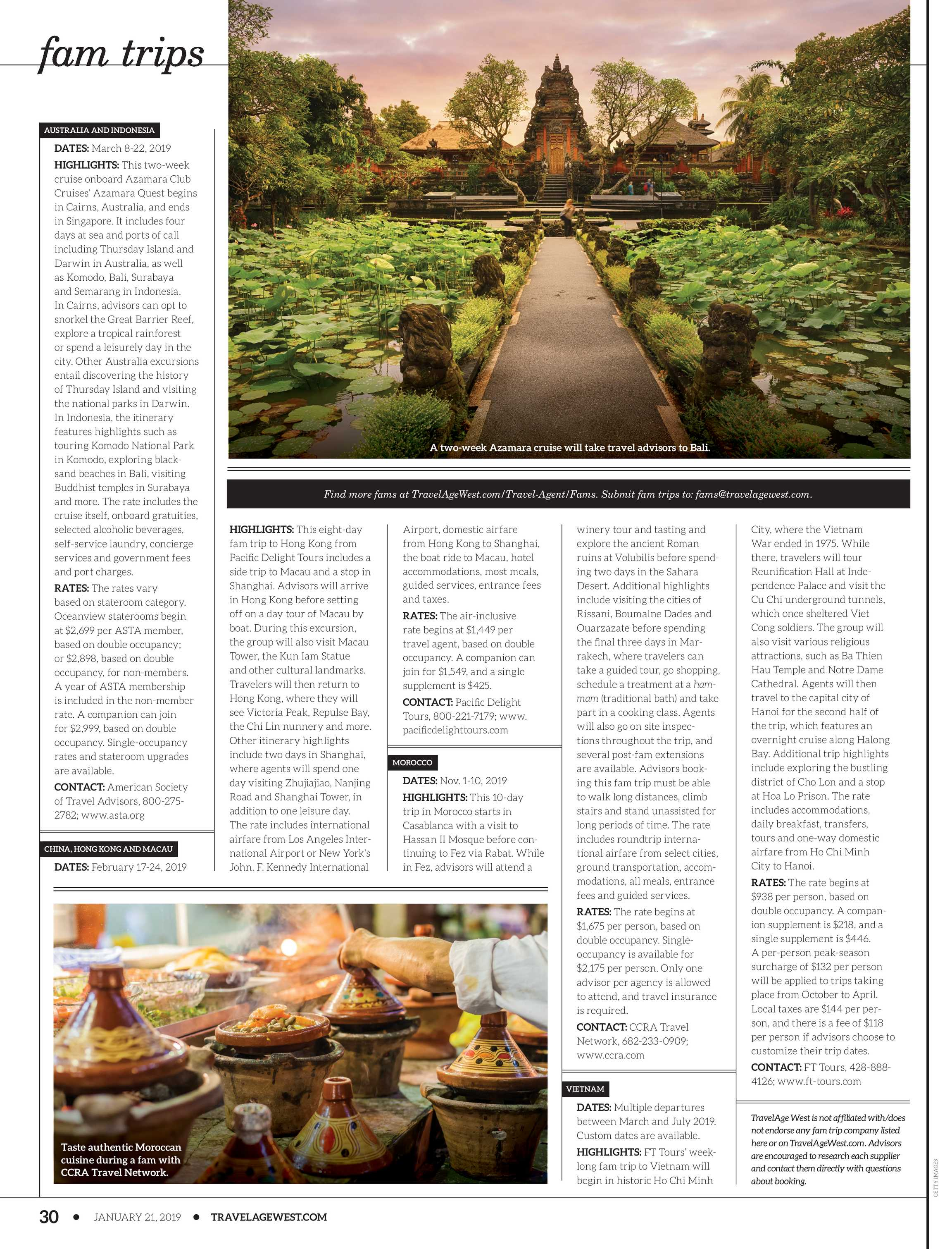 Travel Age West - January 21, 2019 - page 30