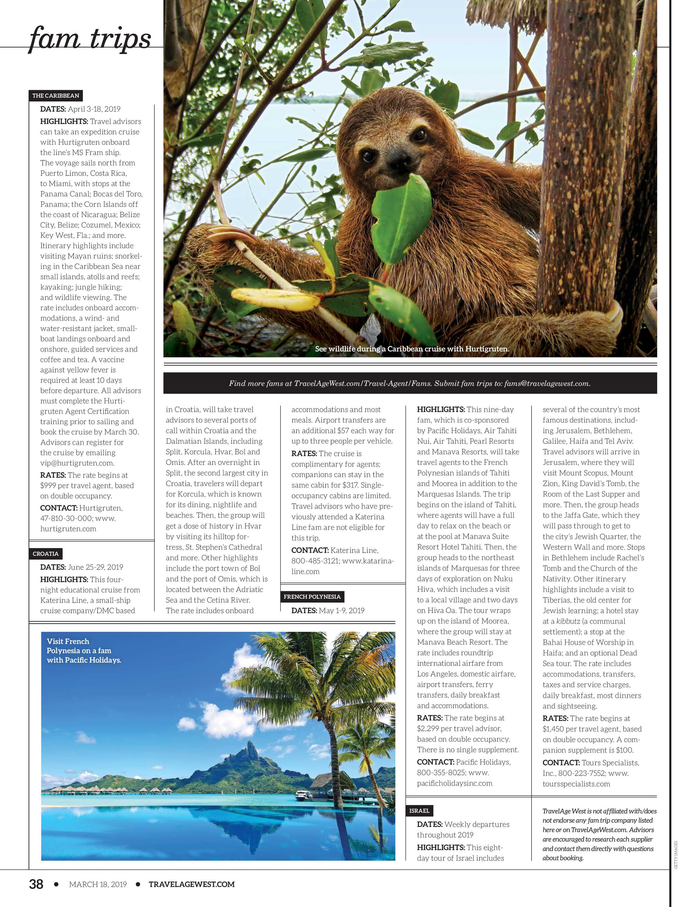Travel Age West - March 18, 2019 - page 38