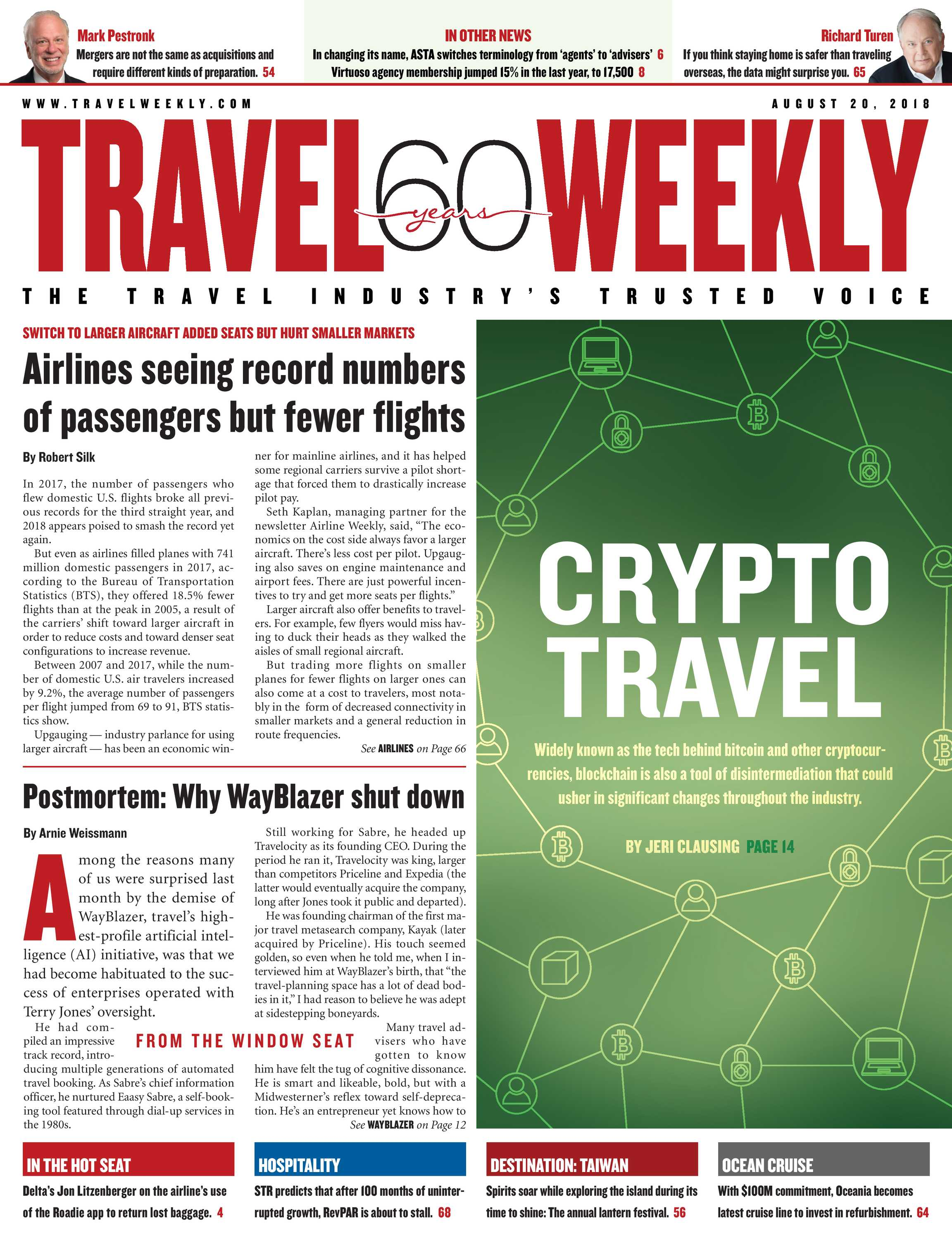 Travel Weekly - August 20 2018 - page Cover