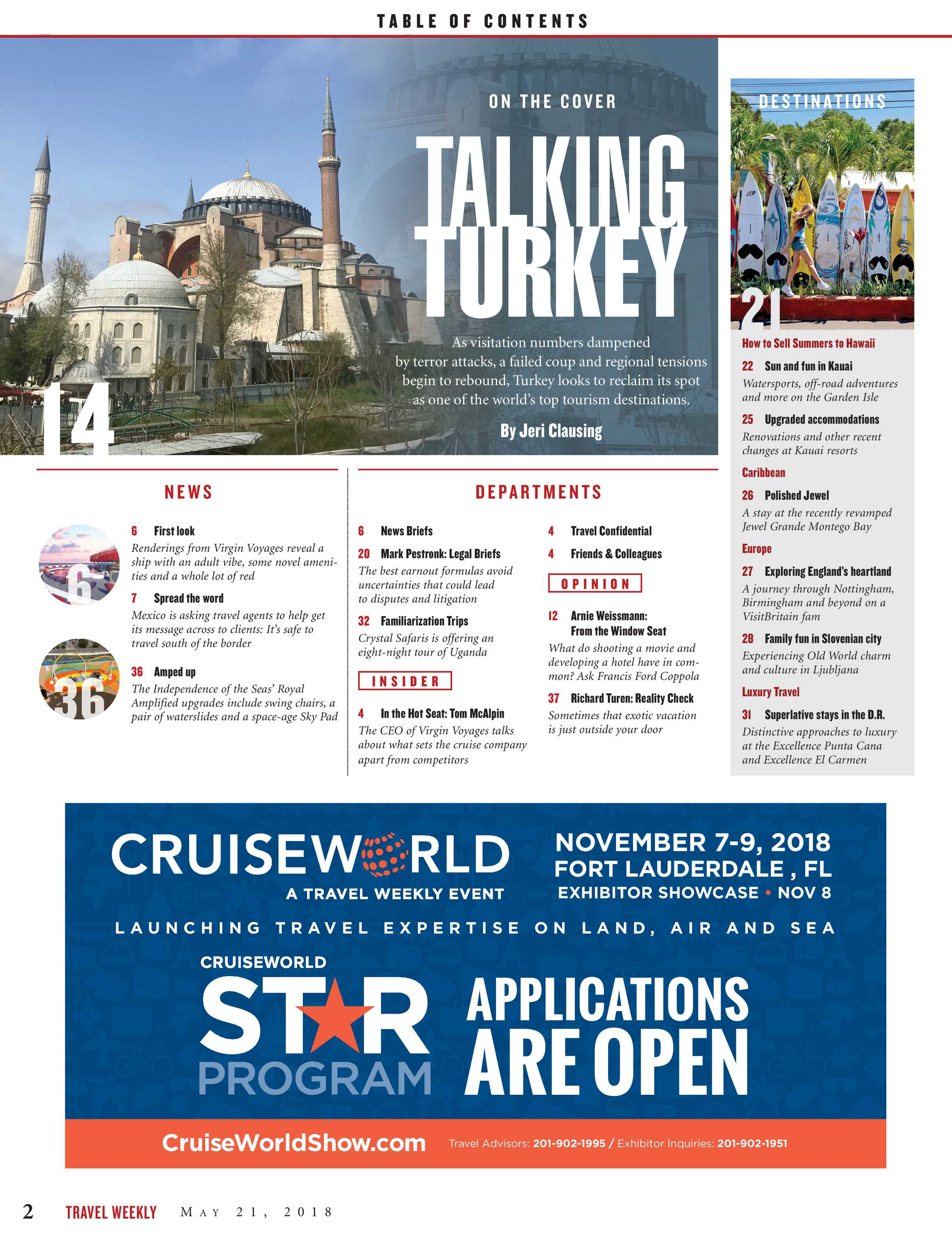Travel Weekly - May 21 2018 - page 2