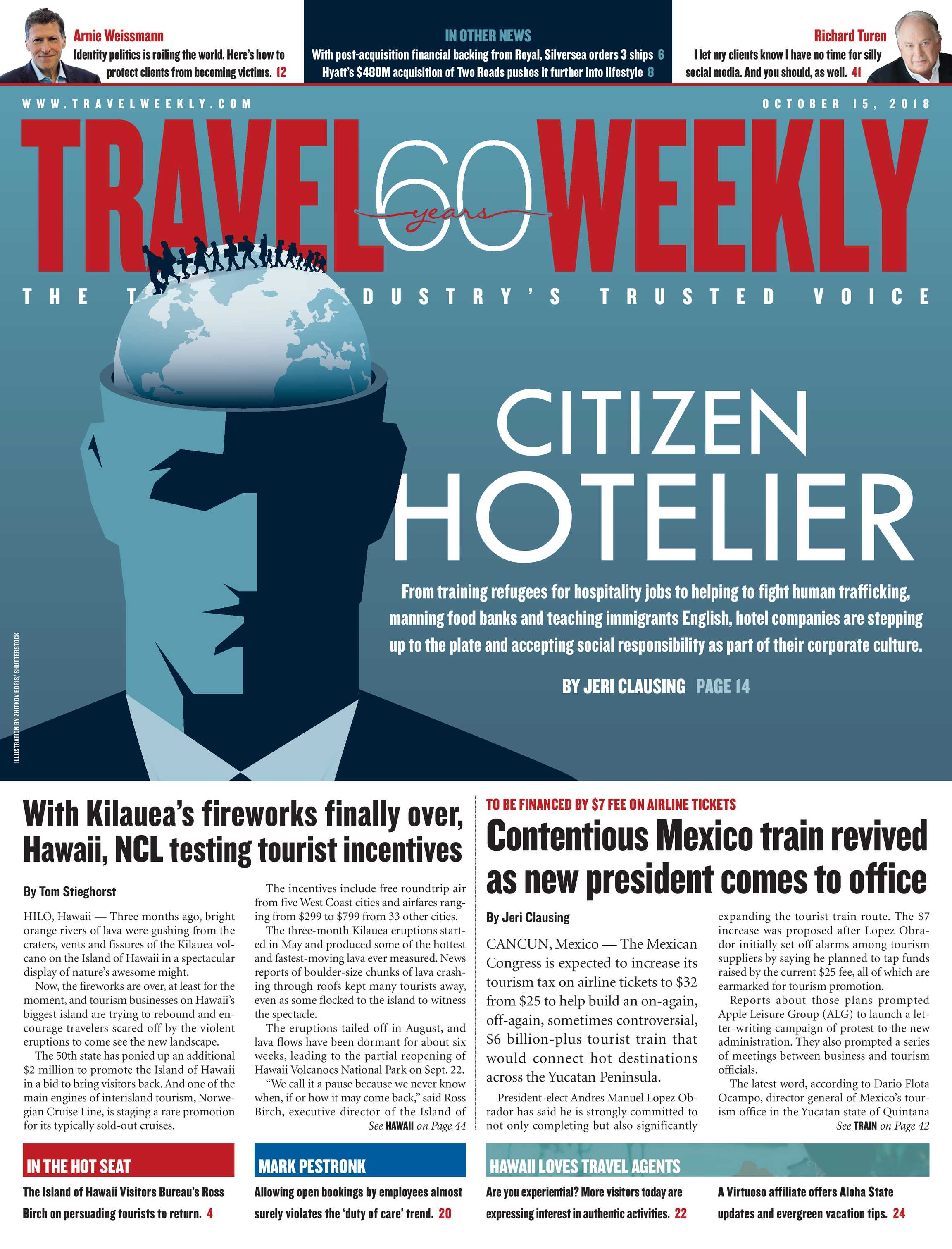 Travel Weekly - October 15 2018 - page Cover