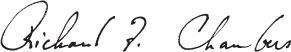 richard f. chambers signature