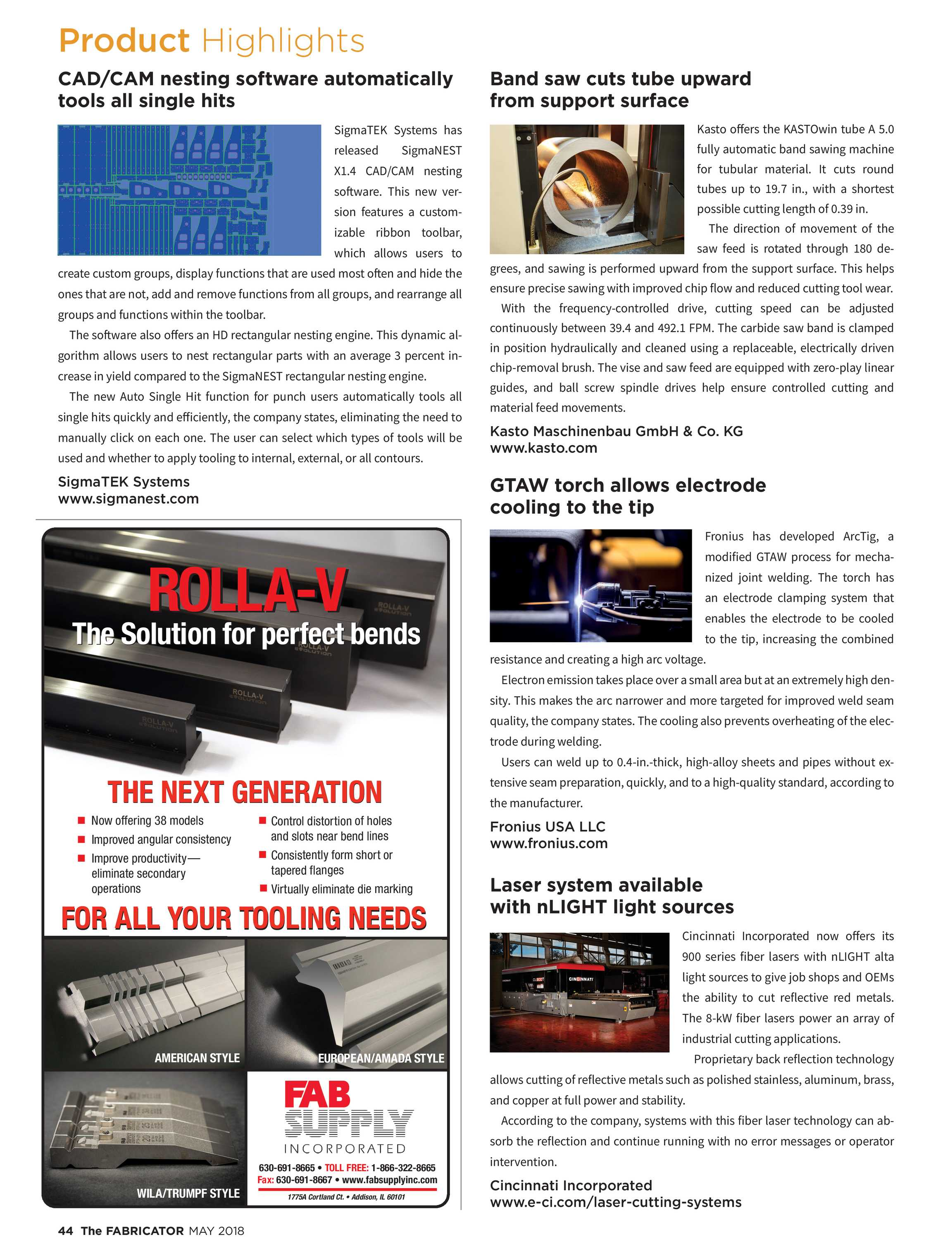 The Fabricator - May 2018 - page 43