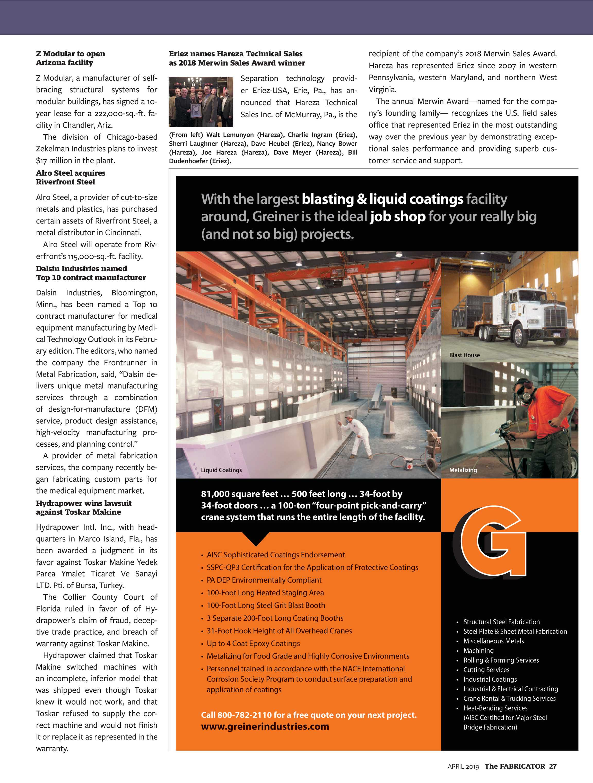 The Fabricator - April 2019 - page 27