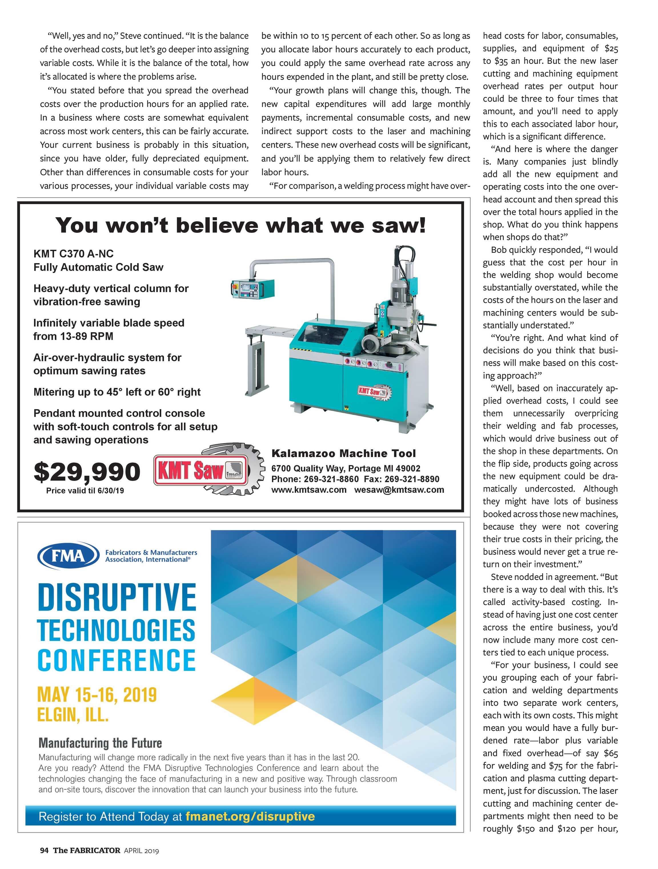 The Fabricator - April 2019 - page 94